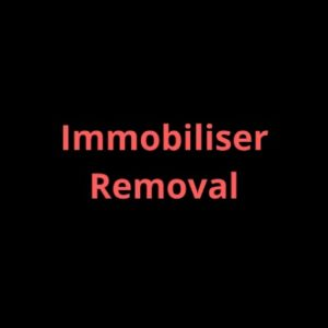 Immobiliser removal